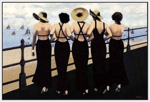 76004_FW1_- titled 'Afternoon on the Boardwalk' by artist  Jacqueline Osborn - Wall Art Print on Textured Fine Art Canvas or Paper - Digital Giclee reproduction of art painting. Red Sky Art is India's Online Art Gallery for Home Decor - 761_TR3885