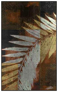 34671_FW1_- titled 'Palm Frond 1' by artist John Butler - Wall Art Print on Textured Fine Art Canvas or Paper - Digital Giclee reproduction of art painting. Red Sky Art is India's Online Art Gallery for Home Decor - 761_TR4047