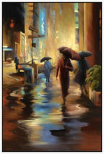 34826_FW1_- titled 'Urban Reflections' by artist Carol Jessen - Wall Art Print on Textured Fine Art Canvas or Paper - Digital Giclee reproduction of art painting. Red Sky Art is India's Online Art Gallery for Home Decor - 761_TR7316
