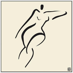 76021_FW1_- titled ' Abstract Female Nude V' by artist Ty Wilson - Wall Art Print on Textured Fine Art Canvas or Paper - Digital Giclee reproduction of art painting. Red Sky Art is India's Online Art Gallery for Home Decor - 761_TR9786