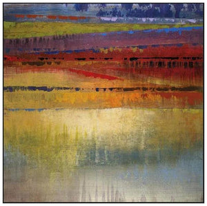 35031_FW1_- titled 'City Colors II' by artist Selina Rodriguez - Wall Art Print on Textured Fine Art Canvas or Paper - Digital Giclee reproduction of art painting. Red Sky Art is India's Online Art Gallery for Home Decor - 762_TR36618