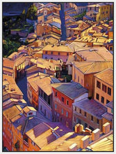 35128_FW1_- titled 'Above Siena' by artist Tom Swimm - Wall Art Print on Textured Fine Art Canvas or Paper - Digital Giclee reproduction of art painting. Red Sky Art is India's Online Art Gallery for Home Decor - 762_TR18599