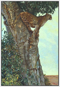60084_FW1_- titled 'On the Lookout' by artist Kalon Baughan - Wall Art Print on Textured Fine Art Canvas or Paper - Digital Giclee reproduction of art painting. Red Sky Art is India's Online Art Gallery for Home Decor - B1738
