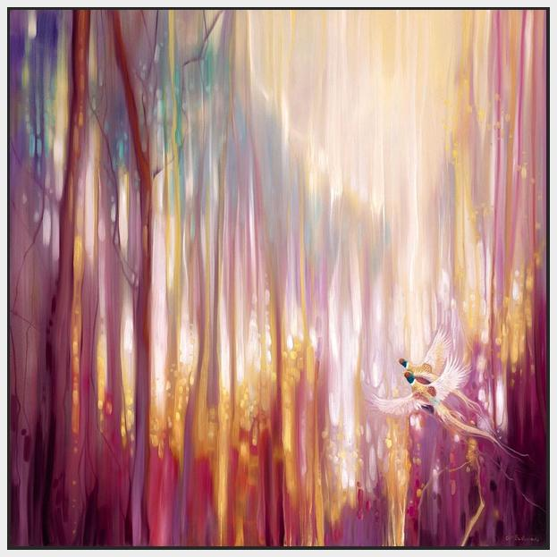60006_FW1_- titled 'Nebulous Forest' by artist  Gill Bustamante - Wall Art Print on Textured Fine Art Canvas or Paper - Digital Giclee reproduction of art painting. Red Sky Art is India's Online Art Gallery for Home Decor - B4363