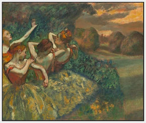 60244_FW1_- titled 'Four Dancers' by artist Edgar Degas - Wall Art Print on Textured Fine Art Canvas or Paper - Digital Giclee reproduction of art painting. Red Sky Art is India's Online Art Gallery for Home Decor - D2493