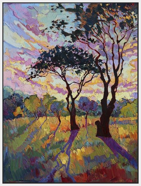 60120_FW1_- titled 'California Sky (bottom left)' by artist Erin Hanson - Wall Art Print on Textured Fine Art Canvas or Paper - Digital Giclee reproduction of art painting. Red Sky Art is India's Online Art Gallery for Home Decor - H2819