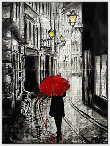 60124_FW1_- titled 'The Delightful Walk' by artist Loui Jover - Wall Art Print on Textured Fine Art Canvas or Paper - Digital Giclee reproduction of art painting. Red Sky Art is India's Online Art Gallery for Home Decor - J885