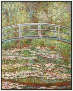 60200_FW1_- titled 'Water Lily Pond, 1899 ' by artist  Claude Monet - Wall Art Print on Textured Fine Art Canvas or Paper - Digital Giclee reproduction of art painting. Red Sky Art is India's Online Art Gallery for Home Decor - M2031