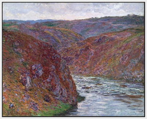 60174_FW1_- titled 'Valley of the Creuse (Gray Day), 1889 ' by artist  Claude Monet - Wall Art Print on Textured Fine Art Canvas or Paper - Digital Giclee reproduction of art painting. Red Sky Art is India's Online Art Gallery for Home Decor - M2605