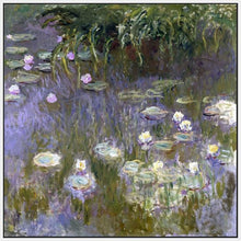 60030_FW1_- titled 'Water Lilies, 1922 ' by artist  Claude Monet - Wall Art Print on Textured Fine Art Canvas or Paper - Digital Giclee reproduction of art painting. Red Sky Art is India's Online Art Gallery for Home Decor - M3061