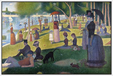 60109_FW1_- titled 'Sunday Afternoon on the Island of Grande Jatte 1864' by artist Georges Seurat - Wall Art Print on Textured Fine Art Canvas or Paper - Digital Giclee reproduction of art painting. Red Sky Art is India's Online Art Gallery for Home Decor - S1615