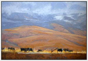 60110_FW1_- titled 'North Powder Cows' by artist Todd Telander - Wall Art Print on Textured Fine Art Canvas or Paper - Digital Giclee reproduction of art painting. Red Sky Art is India's Online Art Gallery for Home Decor - T1642