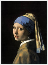 60185_FW1_- titled 'Girl with a Pearl Earring' by artist Jan Vermeer - Wall Art Print on Textured Fine Art Canvas or Paper - Digital Giclee reproduction of art painting. Red Sky Art is India's Online Art Gallery for Home Decor - V108