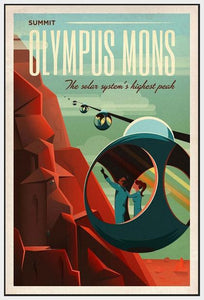 60097_FW1_- titled 'Space X Mars Tourism Poster for Olympus Mons' by artist Vintage Reproduction - Wall Art Print on Textured Fine Art Canvas or Paper - Digital Giclee reproduction of art painting. Red Sky Art is India's Online Art Gallery for Home Decor - V1842