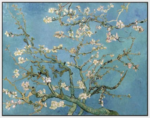 60241_FW1_- titled 'Almond Blossom, 1890' by artist Vincent van Gogh - Wall Art Print on Textured Fine Art Canvas or Paper - Digital Giclee reproduction of art painting. Red Sky Art is India's Online Art Gallery for Home Decor - V401