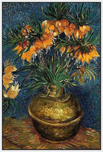 60207_FW1_- titled 'Crown Imperial Fritillaries in a Copper Vase, 1886' by artist Vincent van Gogh - Wall Art Print on Textured Fine Art Canvas or Paper - Digital Giclee reproduction of art painting. Red Sky Art is India's Online Art Gallery for Home Decor - V432