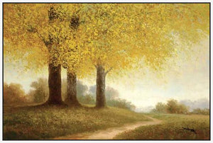 34644_FW2_- titled 'Meadow Path' by artist Samuel - Wall Art Print on Textured Fine Art Canvas or Paper - Digital Giclee reproduction of art painting. Red Sky Art is India's Online Art Gallery for Home Decor - 761_TR10818
