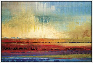 34602_FW2_- titled 'Horizons I' by artist Selina Rodriguez - Wall Art Print on Textured Fine Art Canvas or Paper - Digital Giclee reproduction of art painting. Red Sky Art is India's Online Art Gallery for Home Decor - 761_TR13564