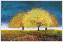76018_FW2_- titled 'Dreaming Trio' by artist  Melissa Graves-Brown - Wall Art Print on Textured Fine Art Canvas or Paper - Digital Giclee reproduction of art painting. Red Sky Art is India's Online Art Gallery for Home Decor - 761_TR17218
