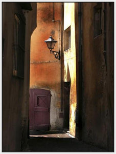 34761_FW2_- titled 'Siena Alley II' by artist Jim Chamberlain - Wall Art Print on Textured Fine Art Canvas or Paper - Digital Giclee reproduction of art painting. Red Sky Art is India's Online Art Gallery for Home Decor - 761_TR8930