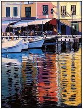 35125_FW2_- titled 'Reflections Of Portofino' by artist Tom Swimm - Wall Art Print on Textured Fine Art Canvas or Paper - Digital Giclee reproduction of art painting. Red Sky Art is India's Online Art Gallery for Home Decor - 762_TR18586