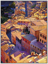 35128_FW2_- titled 'Above Siena' by artist Tom Swimm - Wall Art Print on Textured Fine Art Canvas or Paper - Digital Giclee reproduction of art painting. Red Sky Art is India's Online Art Gallery for Home Decor - 762_TR18599