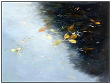 35132_FW2_- titled 'Rain And Leaves' by artist Jan Wagstaff - Wall Art Print on Textured Fine Art Canvas or Paper - Digital Giclee reproduction of art painting. Red Sky Art is India's Online Art Gallery for Home Decor - 763_TR21066