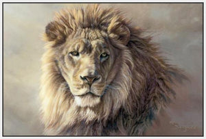 60101_FW2_- titled 'His Majesty' by artist Kalon Baughan - Wall Art Print on Textured Fine Art Canvas or Paper - Digital Giclee reproduction of art painting. Red Sky Art is India's Online Art Gallery for Home Decor - B2055