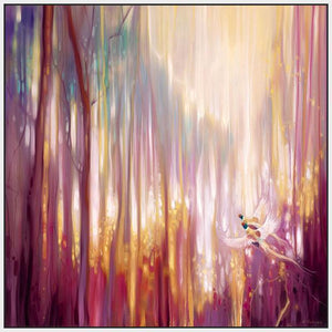 60006_FW2_- titled 'Nebulous Forest' by artist  Gill Bustamante - Wall Art Print on Textured Fine Art Canvas or Paper - Digital Giclee reproduction of art painting. Red Sky Art is India's Online Art Gallery for Home Decor - B4363