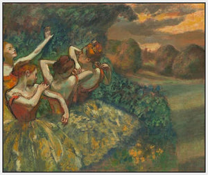 60244_FW2_- titled 'Four Dancers' by artist Edgar Degas - Wall Art Print on Textured Fine Art Canvas or Paper - Digital Giclee reproduction of art painting. Red Sky Art is India's Online Art Gallery for Home Decor - D2493