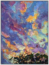 60118_FW2_- titled 'California Sky (top left)' by artist Erin Hanson - Wall Art Print on Textured Fine Art Canvas or Paper - Digital Giclee reproduction of art painting. Red Sky Art is India's Online Art Gallery for Home Decor - H2817