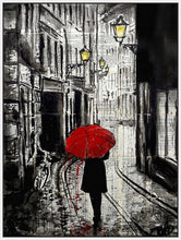 60124_FW2_- titled 'The Delightful Walk' by artist Loui Jover - Wall Art Print on Textured Fine Art Canvas or Paper - Digital Giclee reproduction of art painting. Red Sky Art is India's Online Art Gallery for Home Decor - J885