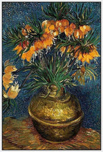 60207_FW2_- titled 'Crown Imperial Fritillaries in a Copper Vase, 1886' by artist Vincent van Gogh - Wall Art Print on Textured Fine Art Canvas or Paper - Digital Giclee reproduction of art painting. Red Sky Art is India's Online Art Gallery for Home Decor - V432