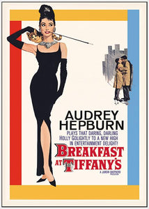 45001_FW3 - titled 'Audrey Hepburn (Breakfast at Tiffany's One-Sheet)' by artist Anon - Wall Art Print on Textured Fine Art Canvas or Paper - Digital Giclee reproduction of art painting. Red Sky Art is India's Online Art Gallery for Home Decor - 55_WDC96251
