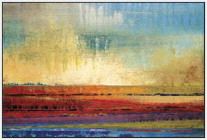 34602_FW3_- titled 'Horizons I' by artist Selina Rodriguez - Wall Art Print on Textured Fine Art Canvas or Paper - Digital Giclee reproduction of art painting. Red Sky Art is India's Online Art Gallery for Home Decor - 761_TR13564