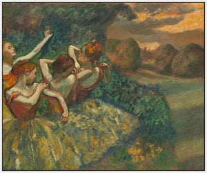 60244_FW3_- titled 'Four Dancers' by artist Edgar Degas - Wall Art Print on Textured Fine Art Canvas or Paper - Digital Giclee reproduction of art painting. Red Sky Art is India's Online Art Gallery for Home Decor - D2493