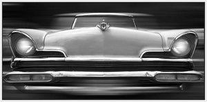 60260_FW3_- titled 'Lincoln Continental' by artist Richard James - Wall Art Print on Textured Fine Art Canvas or Paper - Digital Giclee reproduction of art painting. Red Sky Art is India's Online Art Gallery for Home Decor - J635