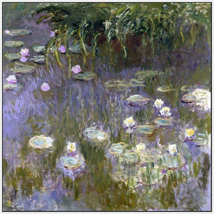 60030_FW3_- titled 'Water Lilies, 1922 ' by artist  Claude Monet - Wall Art Print on Textured Fine Art Canvas or Paper - Digital Giclee reproduction of art painting. Red Sky Art is India's Online Art Gallery for Home Decor - M3061