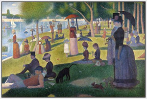 60109_FW3_- titled 'Sunday Afternoon on the Island of Grande Jatte 1864' by artist Georges Seurat - Wall Art Print on Textured Fine Art Canvas or Paper - Digital Giclee reproduction of art painting. Red Sky Art is India's Online Art Gallery for Home Decor - S1615