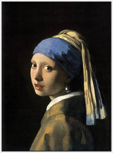 60185_FW3_- titled 'Girl with a Pearl Earring' by artist Jan Vermeer - Wall Art Print on Textured Fine Art Canvas or Paper - Digital Giclee reproduction of art painting. Red Sky Art is India's Online Art Gallery for Home Decor - V108