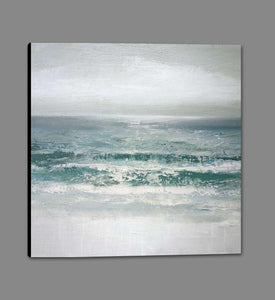 222187_GS1 'Waves' by artist Caroline Gold - Wall Art Print on Textured Fine Art Canvas or Paper - Digital Giclee reproduction of art painting. Red Sky Art is India's Online Art Gallery for Home Decor - 111_16508