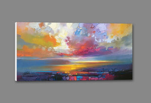 45102_GS1_ - titled 'Uig Clouds' by artist Scott Naismith - Wall Art Print on Textured Fine Art Canvas or Paper - Digital Giclee reproduction of art painting. Red Sky Art is India's Online Art Gallery for Home Decor - 55_WDC93190