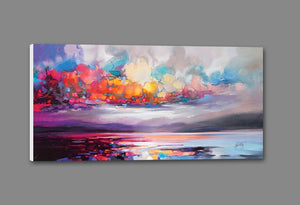 45103_GS1_ - titled 'Stratocumulus' by artist Scott Naismith - Wall Art Print on Textured Fine Art Canvas or Paper - Digital Giclee reproduction of art painting. Red Sky Art is India's Online Art Gallery for Home Decor - 55_WDC93261