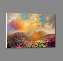 45115_GS1_ - titled 'Nevis Range Colour' by artist Scott Naismith - Wall Art Print on Textured Fine Art Canvas or Paper - Digital Giclee reproduction of art painting. Red Sky Art is India's Online Art Gallery for Home Decor - 55_WDC96317