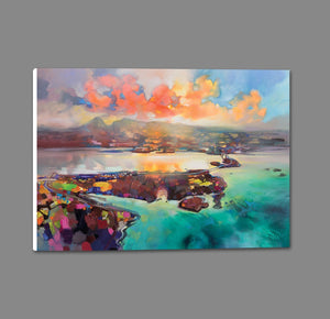 45135_GS1_ - titled 'Skye Bridge' by artist Scott Naismith - Wall Art Print on Textured Fine Art Canvas or Paper - Digital Giclee reproduction of art painting. Red Sky Art is India's Online Art Gallery for Home Decor - 55_WDC96382