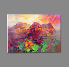 45136_GS1_ - titled 'Glencoe Harmonics' by artist Scott Naismith - Wall Art Print on Textured Fine Art Canvas or Paper - Digital Giclee reproduction of art painting. Red Sky Art is India's Online Art Gallery for Home Decor - 55_WDC96383