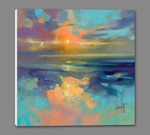 45137_GS1_ - titled 'Cerulean Cyan Study' by artist Scott Naismith - Wall Art Print on Textured Fine Art Canvas or Paper - Digital Giclee reproduction of art painting. Red Sky Art is India's Online Art Gallery for Home Decor - 55_WDC98169