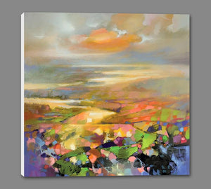 45139_GS1_ - titled 'Highland Terrain' by artist Scott Naismith - Wall Art Print on Textured Fine Art Canvas or Paper - Digital Giclee reproduction of art painting. Red Sky Art is India's Online Art Gallery for Home Decor - 55_WDC98172