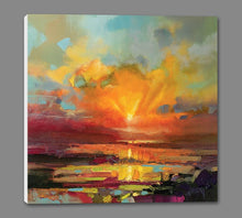 45140_GS1_ - titled 'Optimism Sunrise Study' by artist Scott Naismith - Wall Art Print on Textured Fine Art Canvas or Paper - Digital Giclee reproduction of art painting. Red Sky Art is India's Online Art Gallery for Home Decor - 55_WDC98173