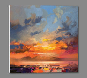 45145_GS1_ - titled 'Rum Light Study' by artist Scott Naismith - Wall Art Print on Textured Fine Art Canvas or Paper - Digital Giclee reproduction of art painting. Red Sky Art is India's Online Art Gallery for Home Decor - 55_WDC98214